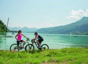 Radfahren am Wolfgangsee