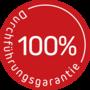 Button Durchfu hrungsgarantie FRANK rot